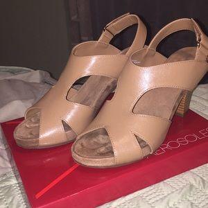 Aerosole heeled sandal shoes